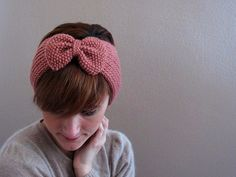 knitted headband bow