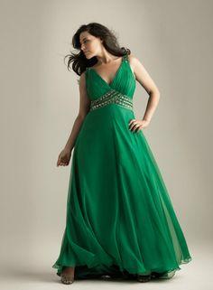 Vestidos en color verde 4