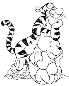Winnie the Pooh coloring pages. Disney coloring pages. Coloring pages for kids. Thousands of free printable coloring pages for kids! Cartoon Coloring Pages, Disney Coloring Pages, Animal Coloring Pages, Coloring Pages To Print, Free Printable Coloring Pages, Coloring Book Pages, Coloring Pages For Kids, Kids Coloring, Colouring Sheets
