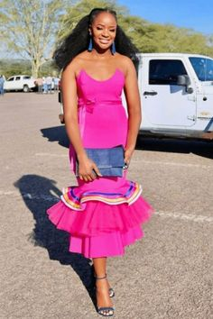 Pedi Traditional Attire, Sepedi Traditional Dresses, South African Traditional Dresses, Traditional Fashion, Thick Girls Outfits, Girl Outfits, Fashion Outfits, African Attire, African Wear