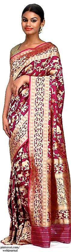 Kadhua weave on pure silk with Shikara motif in intricate zari work- Nilambari