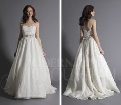 Love the whimsey and romance of this full skirted gown.