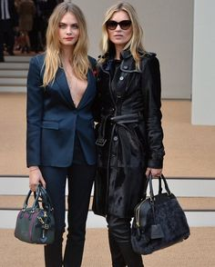 Cara Delevingne and Kate Moss.