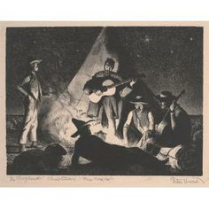 Peter Hurd, The Shepherd's Christmas, New Mexico, n.d., lithograph, Dallas Museum of Art, gift of Violet Hayden Dowell