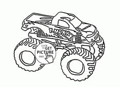 monster truck cool t maxx coloring page for kids transportation coloring pages printables free