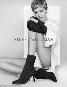 Fun with wigs! Gigi Hadid, 22, tried out a much shorter hairdo for her latest Stuart Weitzman campaign that shows the gorgeous model rocking a faux pixie cut
