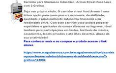 Magazine Vera Alice da Rede Magazine Você: Carrinho para Churrasco Industrial…
