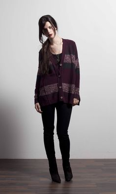 Allure button cardigan in Bordeaux Bordeaux, Fall Winter, Bomber Jacket, Punk, Button, Spring, Jackets, Collection, Style