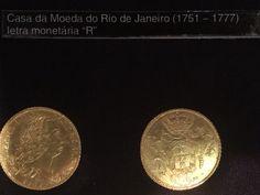 """Moeda de ouro cunhada no Rio de Janeiro com a letra """"R"""" - Museu de Valores BCB"""