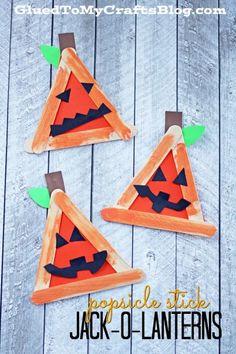 Popsicle Stick Jack-O-Lantern - Kid Craft