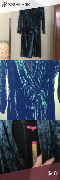 NWT Catherine Malandrino Dress Velvet 10 Exquisite Catherine Malandrino dress crushed stretch velvet.  Surplice neckline.  Emerald green.  Think holidays!!!!❄️️❄️️❄️️❄️️❄️️ Catherine Malandrino Dresses
