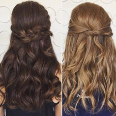 Trending now: half up/ half down do's with soft waves = prom hair perfection (by Elena)!  #promhair #updo #halfuphalfdown #lovely #hairstyle