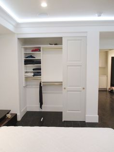 We recently installed these 3-track, 3-panel, hollow core, top-hung closet doors! If it's time to replace your old closet doors, contact Classic! Visit www.chiproducts.com to see all of the many features we offer for customization, or call (866) 567-0400 today for an estimate! We install all over Orange County in cities like Huntington Beach, California.