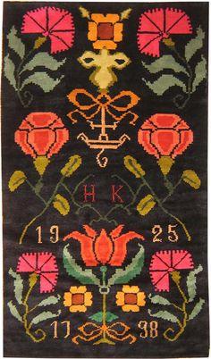 Antique Finnish Rya, dated 1925