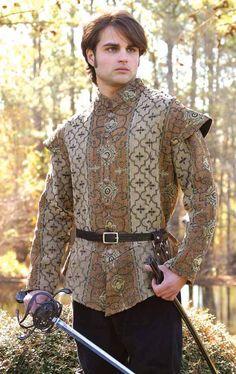 Royal Court Doublet - Medieval Renaissance Clothing, Costumes For Scott