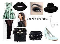 """""""Second Meeting"""" by adorkable-390 ❤ liked on Polyvore featuring City Chic, Bandolino, Mademoiselle Slassi, Ted Baker, Valentino, Lime Crime, Messika, Urban Outfitters and Too Faced Cosmetics"""