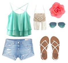 """""""Life on the beach"""" by molly-grace-lindsey ❤ liked on Polyvore featuring rag & bone/JEAN, Billabong, Accessorize and Tiffany & Co."""