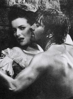 Tyrone Power and Maureen O'Hara in The Black Swan, great movie.