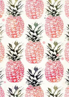 Pineapple Wallpaper - perfect for an entry hall (pineapples are a symbol of welcome)