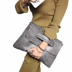 Versatile Leather Clutch Bag Women leather handbag with polyester fabric lining Removable and adjustable shoulder strap (may be worn as a crossbody bag) Comfort Leather Clutch Bags, Leather Handbags, Crossbody Bags, Pu Leather, Clutch Purse, Vintage Leather, Tote Bags, Bag Women, Womens Purses