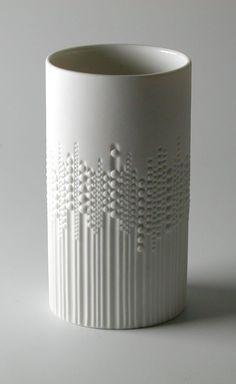 Tapio Wirkkala; Porcelain Vase for Rosenthal, c1971.