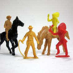 plastic cowboys and Indians of the Childhood Toys, Childhood Memories, Rodeo Birthday, Cowboys And Indians, I Remember When, Old Toys, The Good Old Days, Back In The Day, Vintage Toys