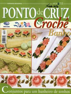 """Photo from album """"Punto Cruz"""" on Yandex. Cross Stitch Magazines, Cross Stitch Books, Crochet Magazine, Le Point, Book Cover Design, Embroidery Patterns, Decorative Boxes, Projects, Crafts"""