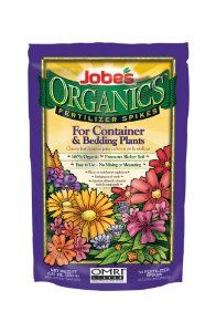 Jobe's Organic Container & Annuals Fertilizer Food Spikes - 50 Pack 6128 by Jobe's. $9.48. Pack of 50; NPK 3-5-6. Organic fertilizer for containers and bedding plants. No mixing, no measuring, no mess. Easy to use. OMRI listed. From the Manufacturer                Easy Gardener manufactures and distributes over 200 products to top lawn and garden retailers in the United States, Canada and United Kingdom.  Our product lines include landscape fabrics, shade fabrics, ...