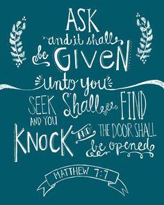 Matthew 7:7 -emptiness- New blog post up!
