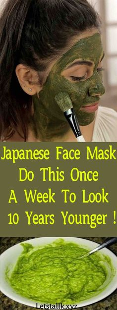 Japanese Face Mask: Do This Once A Week To Look 10 Years Younger !#fitness #beauty #hair #workout #health #diy #skin #Pore #skincare #skintags #skintagremover #facemask #DIY #workout #womenproblems #haircare #teethcare #homerecipe
