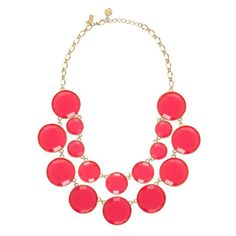 This coral & gold Kate Spade bauble necklaces makes me happy.  The colors are so bright and fun.  It would be perfect to wear in the spring or summer!