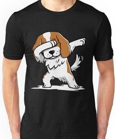 Dabbing Cavalier King Charles Spaniel Funny Unisex T-Shirt #cavalierkingcharlesspanielfunny