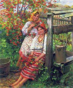 dmitrie.lyudmi — «Сычков Ф. Две красотки у колодца.1928» на Яндекс.Фотках