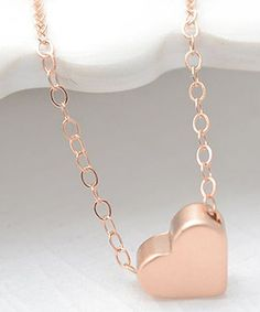 sweet little rose gold heart necklace