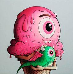 Buff Monster. #buffmonster http://www.widewalls.ch/artist/buff-monster/