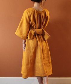 custom linen many moods dress  with 1 by annyschooecoclothing