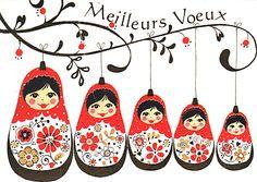 Carte De Voeux Le Blog Sophie Matriochkas Et Vitrines