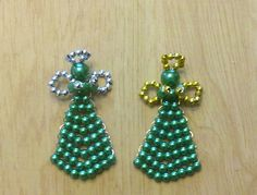 Green with Gold or Silver Angel Pins by CountryWomanCrafts on Etsy, $2.00