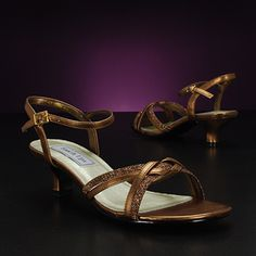Bronze bridal Shoe, TOUCH UPS MELANIE-898 Shoes for Weddings & bridals