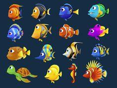 Fishdom Deep Dive 01 by roma-n on DeviantArt Dove Images, Drawn Fish, 2d Game Art, Sea Art, Sea Fish, Cute Animal Drawings, Rock Crafts, Fish Art, Sea Creatures