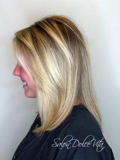 Blonde with darker roots