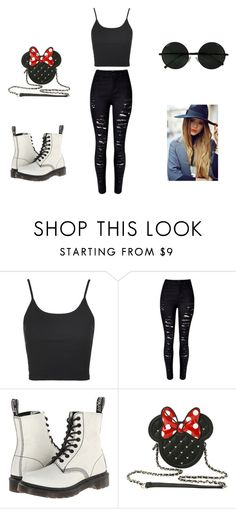 """Sem título #2"" by rbitencourtambe ❤ liked on Polyvore featuring Topshop, WithChic and Dr. Martens"