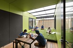 Gallery of Caulfield Grammar School / Hayball - 1 Learning Spaces, Learning Environments, University Of Melbourne, Grammar School, Group Work, Office Interior Design, Education, Gallery, Building