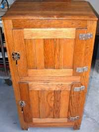 Antique oak 2 door ice box - my favorite first antique that I fell in love with but yet to own.  Someday.....