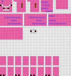 3D Minecraft Pig perler bead pattern