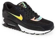 Nike 'Air Max 90 Premium' Sneaker (Men) Nike Casual Shoes, Black Nike Sneakers, Running Shoes Nike, Air Max Sneakers, Nike Shoes, Mens Nike Shox, Nike Air Max Mens, Cheap Nike Air Max, Nike Men