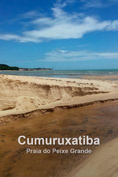 A praia do Peixe Grande, em Cumuruxatiba, é de fácil acesso e tem uma boa estrutura de pousadas.  #brasil #bahia #cumuruxatiba #praia #peixegrande Brazil Beaches, Buggy, Worlds Largest, Water, Travel, Outdoor, Big Fish, Travel Ideas, Pisces