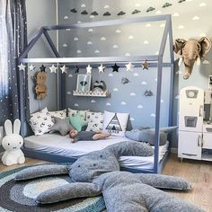 21 Super Cute Floor Bed Designs For Kids Room Decor - Kids Bedroom Boys, Baby Boy Rooms, Kids Rooms, Kid Bedrooms, Teen Bedroom, Room Baby, Boys Bedroom Ideas Toddler Small, Baby Boy Bedroom Ideas, Ikea Toddler Room