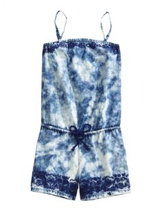 Dye Effect Denim Romper | Girls Dresses Clothes | Shop Justice