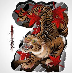 japanese tattoos for men Tattoo Japanese Style, Japanese Tiger Tattoo, Japanese Tattoo Designs, Japan Tattoo Design, Tiger Tattoo Design, Tattoo Designs And Meanings, Best Tattoo Designs, Tattoo Oriental, Asian Tattoos